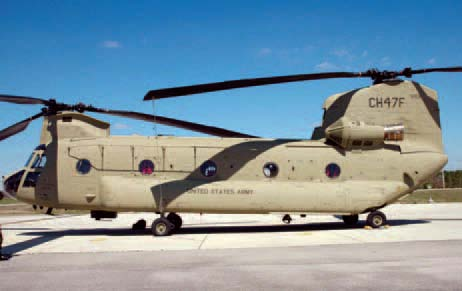 2010 New Camouflage Paint for the CH-47F mixed terrain color solution