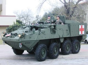 Stryker Ambulance in Olive drab